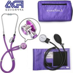 Durable Aneroid Sphygmomanometer Stethoscope Kit Blood Press