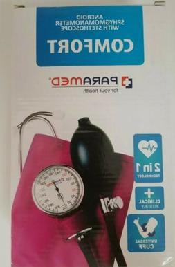PARAMED Aneroid Sphygmomanometer with Stethoscope–Manual B