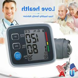Auto Digital Arm Blood Pressure Monitor BP Cuff Machine Gaug