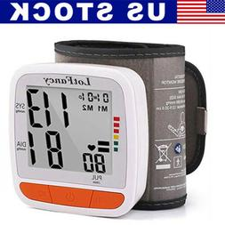 Auto Digital Wrist Blood Pressure Monitor BP Cuff Machine Ga