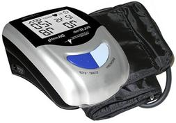 Automatic blood pressure monitor featuring 85 memory recall,
