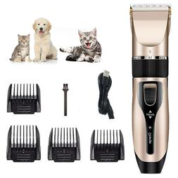 Pet Dog Cat Grooming Clippers Kit Hair Trimmer Shaver Quiet