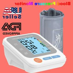 Automatic Upper Arm Digital Blood Pressure Monitor Pulse Met