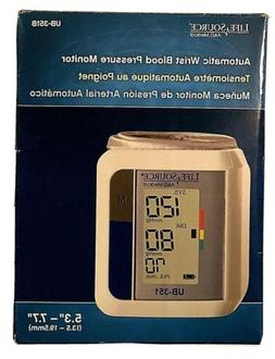 LifeSource Automatic Wrist Blood Pressure Monitor