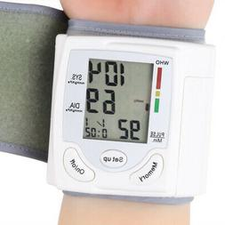 Blood Pressure Monitor BP Heart Rate Checker Wrist Pulse Arm