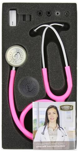 Prestige Medical Clinical Lite Stethoscope, Hot Pink