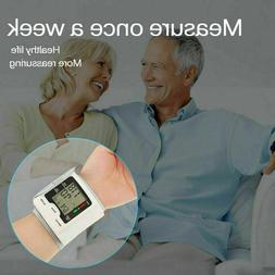 Digital Automatic Blood Pressure Monitor Wrist Adults Replac
