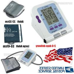 Digital LCD Upper Arm Blood Pressure Monitor Adult & large a