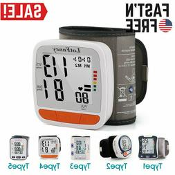 Digital Wrist BP Cuff Blood Pressure Monitor Heart Beat Puls