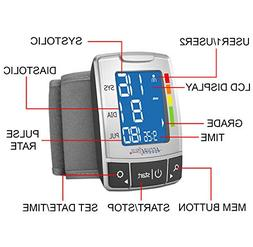 AccuraPulse Fully Automatic Portable Wrist Blood Pressure Cu