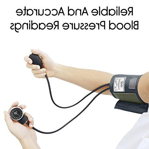 Vive with - Manual Blood Upper - Professional BPM - Meter Kit - Handheld Palm Bulb and Reader