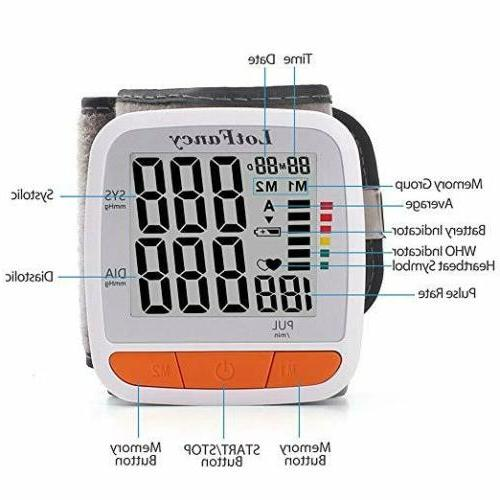 Auto Digital Wrist Pressure Machine Gauge Sphygmomanometer