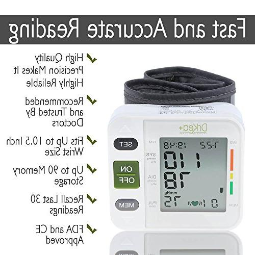 Automatic Blood Pressure Monitor - Clinical Blood Monitors DrKea Screen Wrist Blood Pressure Irregular Heartbeat BP Monitor - and
