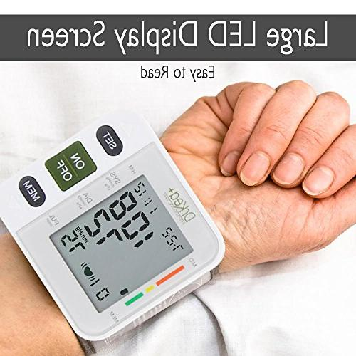 Automatic Blood Cuff Monitor Clinical High Blood Pressure DrKea - Large Screen BP Wrist Blood Pressure Kit Irregular BP - CE Approved