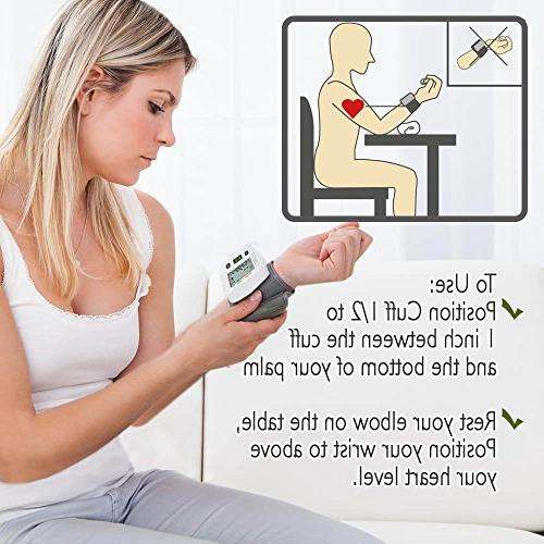 Automatic Blood Pressure Monitor - Clinical Blood Pressure Monitors by DrKea - Screen Wrist Cuff Blood - - FDA Approved