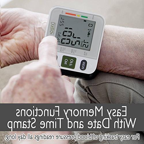 Automatic Blood Pressure Monitor - Clinical High Blood DrKea - Large Screen Wrist Blood Pressure Irregular BP Monitor - and Approved