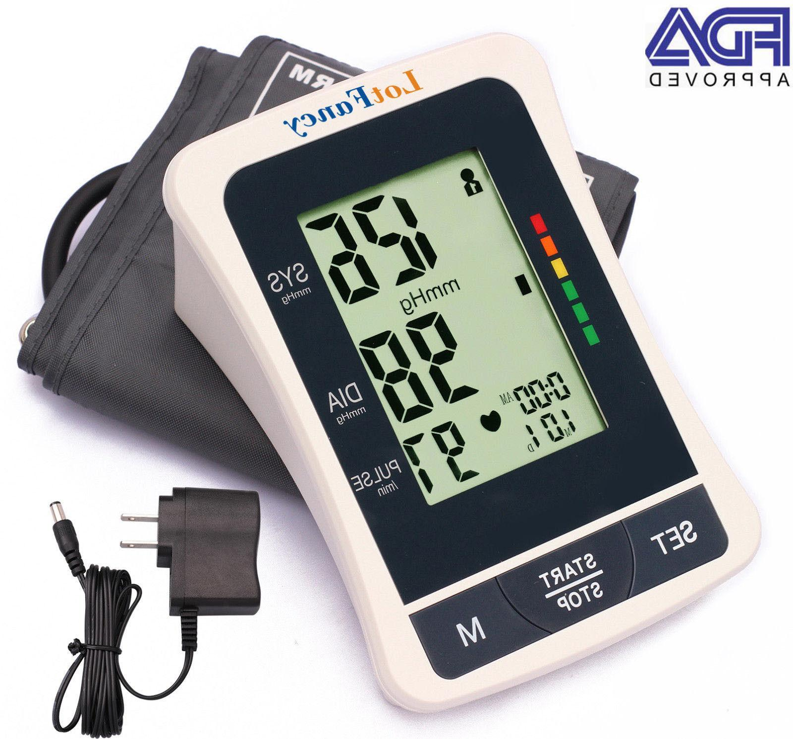 automatic digital arm blood pressure monitor large