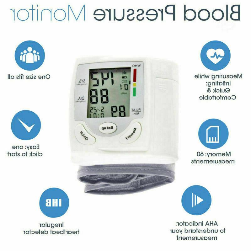 automatic digital wrist blood pressure bp cuff