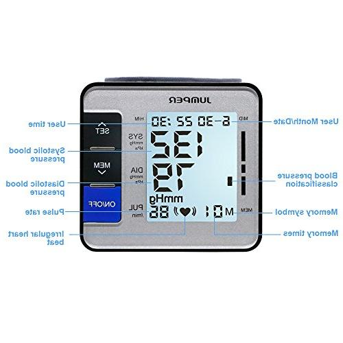Jumper Medical Cuff,Digital Electronic Meter Pulse Heartbeat Measurement with Health Monitoring