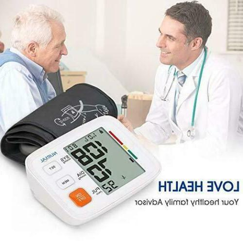 Automatic Blood Pressure Cuff FDA Approved Pulse LCD