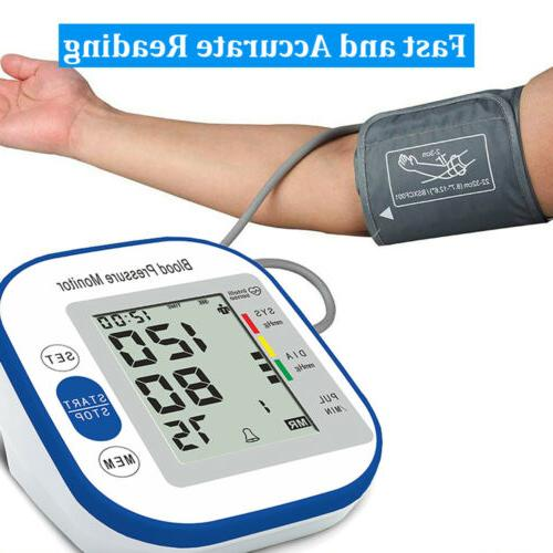 Upper Arm Blood Pressure Monitor Portable LED Display Pulse
