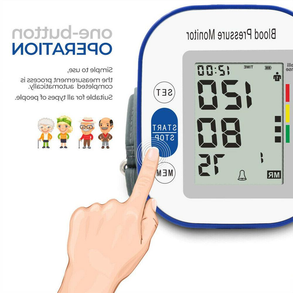 Automatic Arm Digital Blood Pressure Monitor Pulse Meter Machine