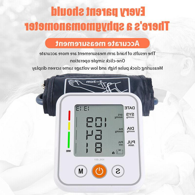 Automatic Arm Blood Pressure Monitor BP Cuff Meter