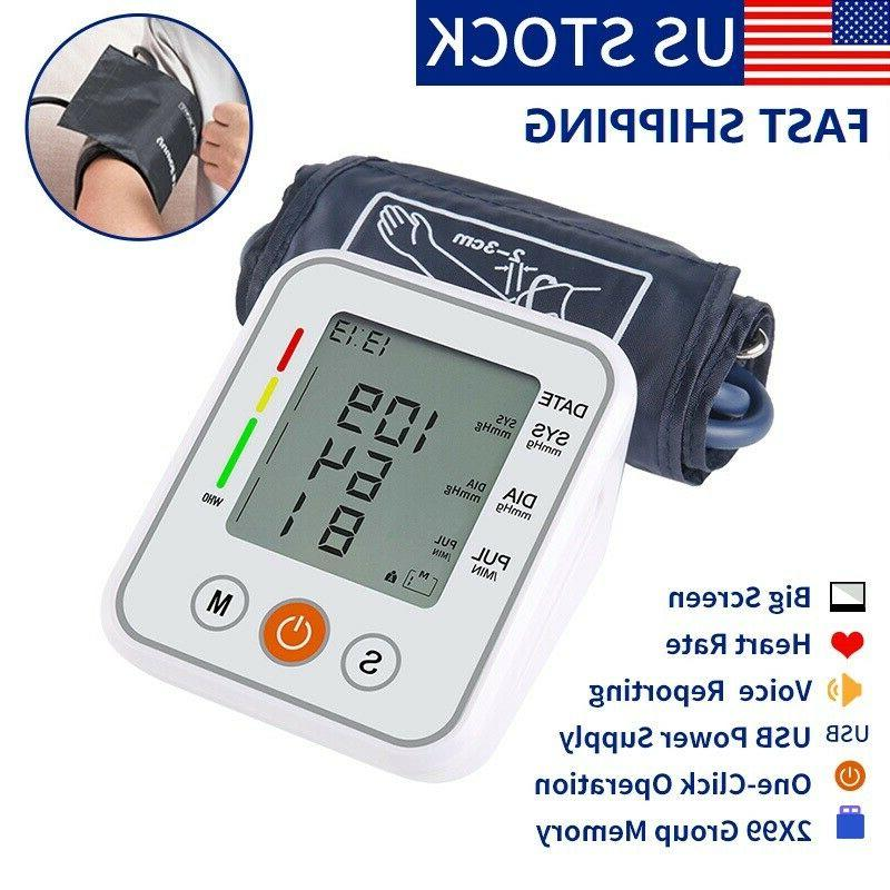 automatic voice reporting digital arm blood pressure