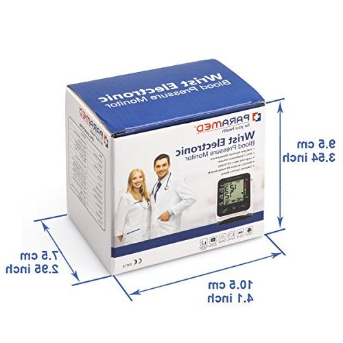 Automatic Monitor by Paramed:Blood-Pressure Kit of 2AAA - & 90 Memory Function & Display - FDA
