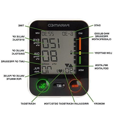 Automatic Blood Pressure Monitor of Bp 2AAA and Carrying - Irregular & Function Large Display - FDA