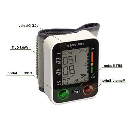 Automatic Wrist Pressure Monitor by of 2AAA - Irregular Detector & Function Display