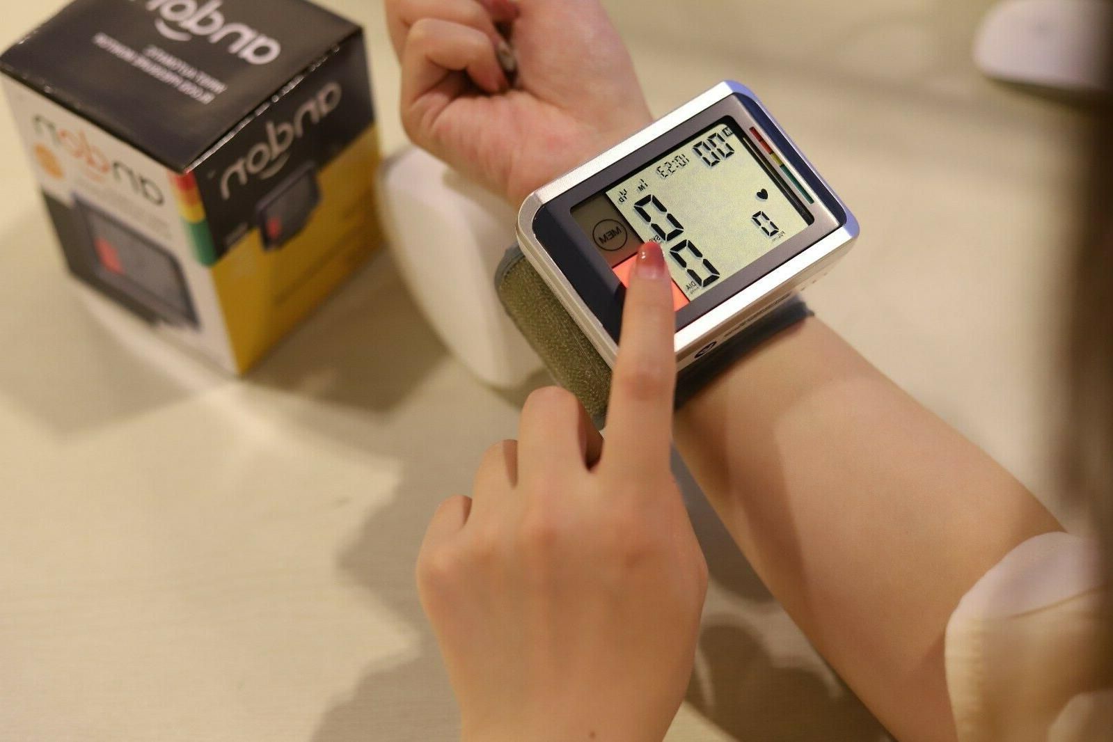 Automatic Wrist Pressure Monitor with Backlight