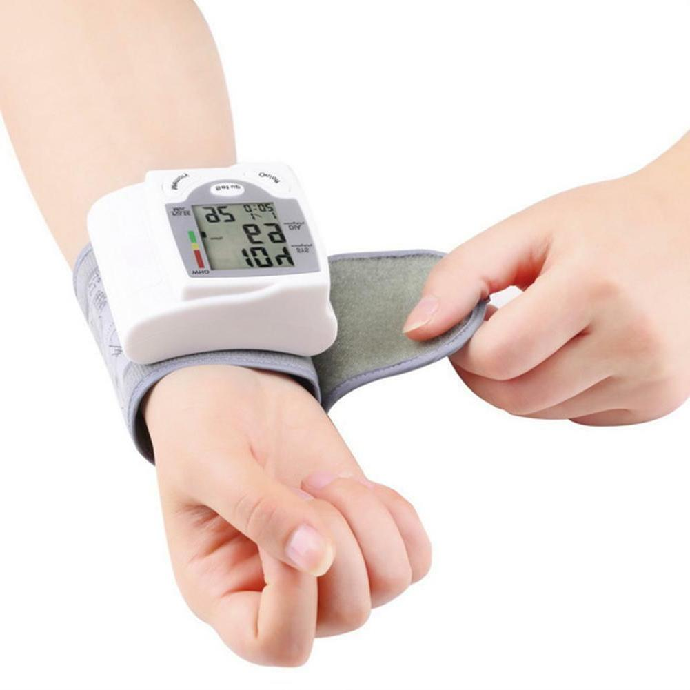 Digital Automatic Wrist Blood Pressure Monitor Cuff BP Machi