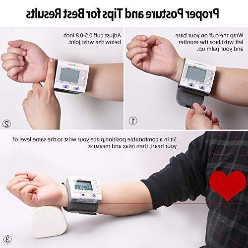 Wrist Blood Pressure Monitor by LotFancy, Sphygmomanometer User,