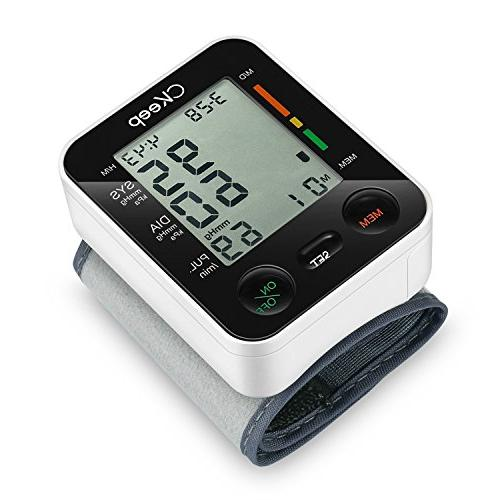 CKeep Wrist Blood Pressure Monitor by FDA with Large Display Screen and High Accuracy Reading Property,Box Batteries Included