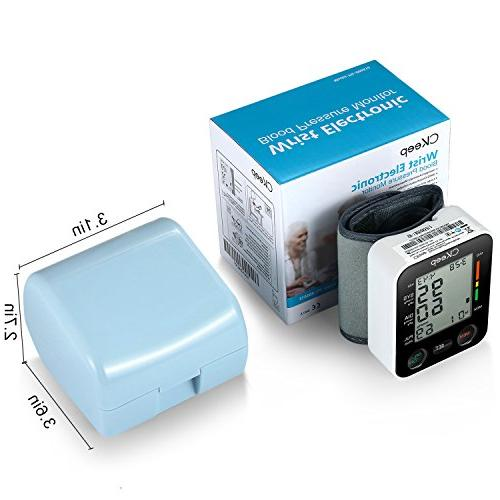 CKeep Wrist Pressure Approved FDA Large Display Screen Reading Batteries Included