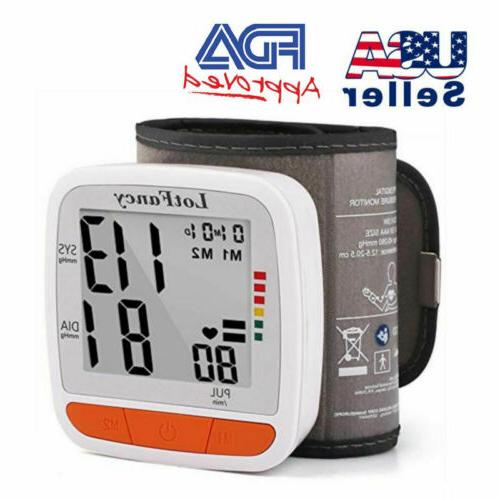 Automatic Wrist Blood Pressure Monitor Heart Rate BP Meter T