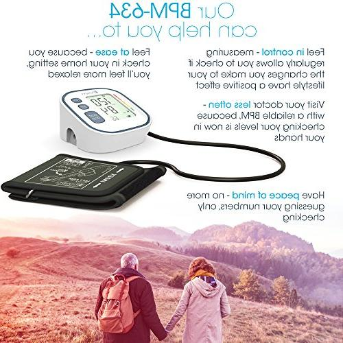Best, Fast, Accurate Blood Pressure Reading Large Upper Easy Home use Top Rated BP Approved Electronic Cuffs