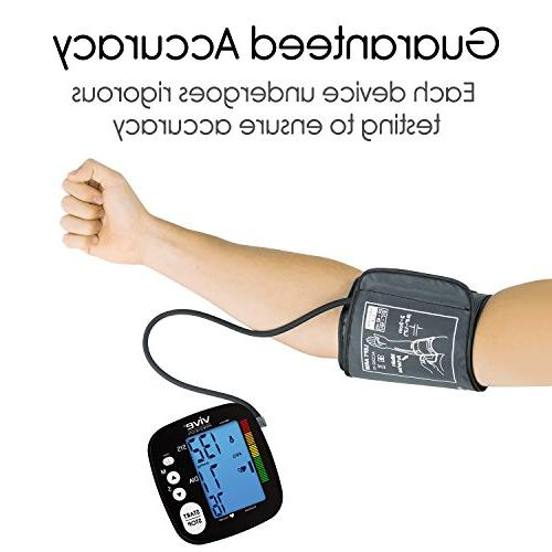 Vive Machine Monitor - Automatic BPM Sphygmomanometer Heartbeat Hypertension Pulse Readings Arm
