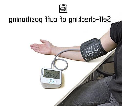 Blood Pressure Monitor Paramed: Automatic Upper Arm Machine & Pulse Rate Meter with 22-40cm, 120 Sets Memory, LCD Talking