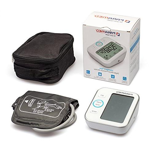 Blood Pressure Monitor Paramed: Upper Arm Bp Pulse Meter with Cuff Sets Talking & 4AAA - Fda