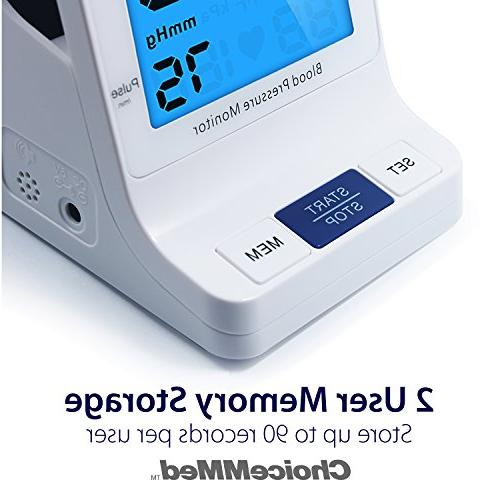 """CHOICEMMED Pressure with Talking Function Blood Pressure Large Display 9.4""""-13.4"""" BP Machine BP Cuff Blood Batteries Included"""