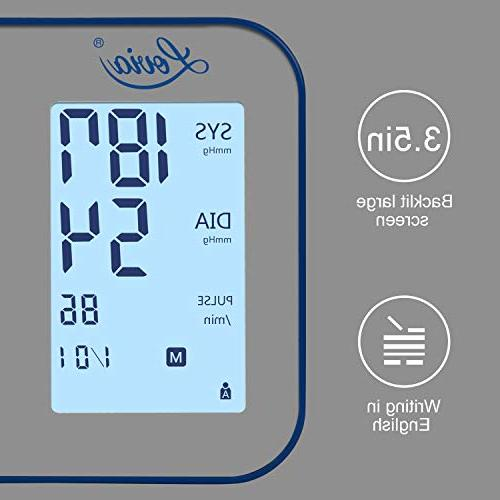 Blood Pressure Automatic Digital BP Monitor Pressure for Use, * Memory Large LCD Display, FDA/CE Certified
