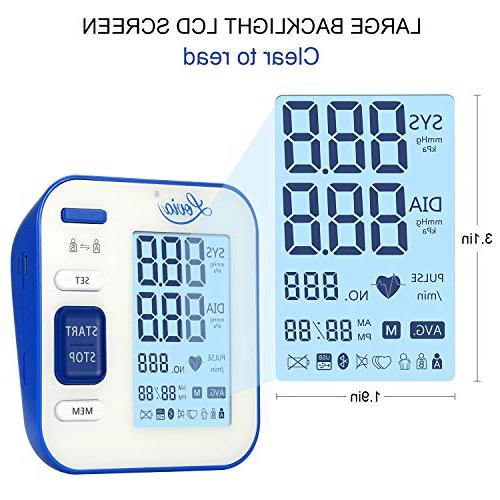 Blood Automatic Digital BP Monitor Pressure Rate for Home * 120 Mode, Large LCD Display, Certified