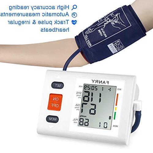 FANRY Blood Automatic Cuff Arm, Included - Certified, Accurate, and Perfect for Home 8.7''-12.6''