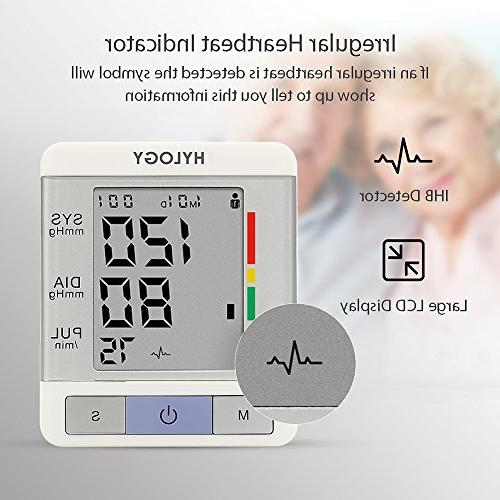 Blood Pressure HYLOGY Clinically BP Monitor with Users Mode Portable with 2 Memory Storage FDA
