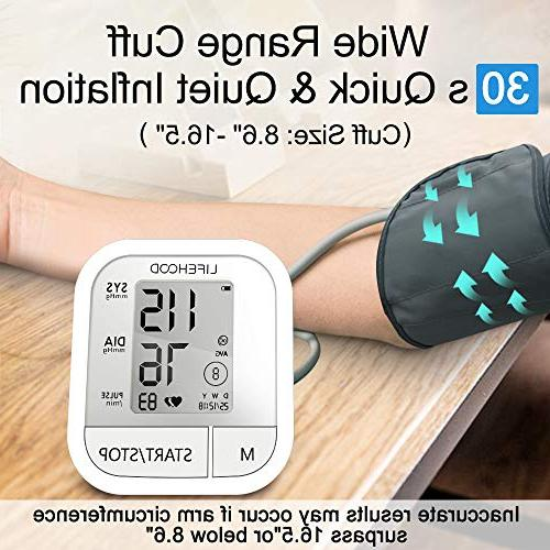 Blood Reading, Reading Memory Automatic Upper Arm BP with Display & Buttons, Wide Range Operation Home Use