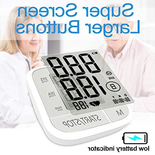 Clinically Accurate Reading, 60 Automatic Upper BP with Large Display Buttons, Wide Range Cuff, Touch Operation