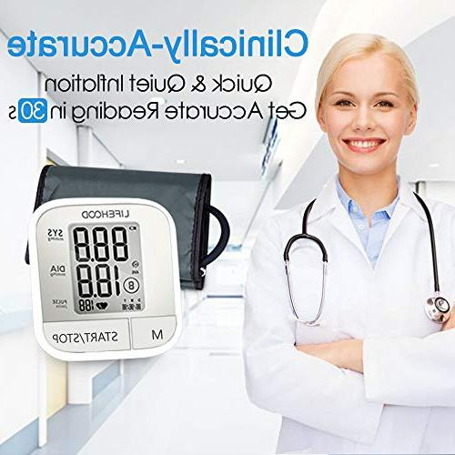 Blood Clinically Accurate & Reading, Reading Automatic Arm Digital BP with Display & Buttons, Range Cuff,