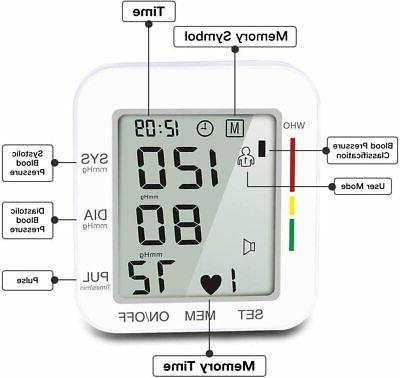 Blood Pressure Monitor LCD And Wrist